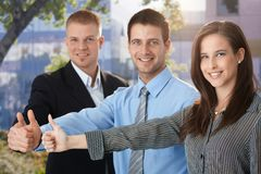 Businessteam giving thumb up Stock Image