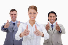 Businessteam giving thumbs up Royalty Free Stock Photo