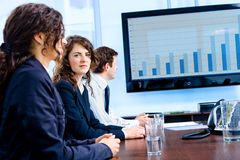 Businessteam having meeting Stock Images