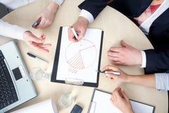 Businessteam in het werk royalty-vrije stock afbeelding