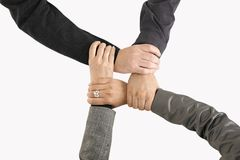 Businessteam holding hands Stock Photography