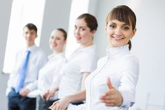 Businessteam holding hands Stock Images