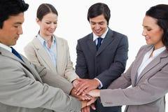 Businessteam joven que se motiva Foto de archivo libre de regalías