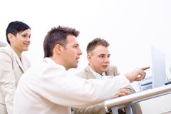 Businessteam with laptop Royalty Free Stock Image