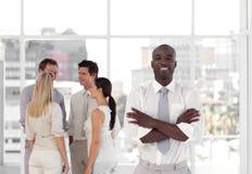 Businessteam met CEO Royalty-vrije Stock Foto's