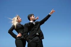 Businessteam mit Ziel Stockfoto