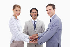 Businessteam motivating each other Stock Photo
