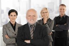 businessteam office smiling 免版税库存照片