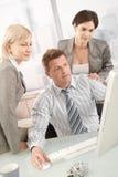 Businessteam op het werk Stock Fotografie