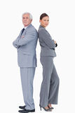 Businessteam standing back to back Stock Image