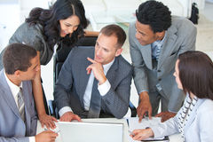 Businessteam talking about a project Royalty Free Stock Photos
