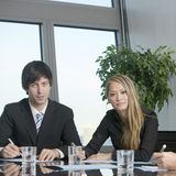 Businessteam of two persons Royalty Free Stock Photography