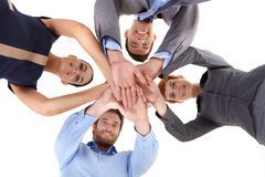 Businessteam in unity Royalty Free Stock Photo