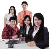 Businessteam w biznesowym konwersatorium Obrazy Royalty Free