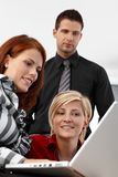 Businessteam at work royalty free stock images