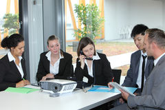 Businessteam at work in the office Royalty Free Stock Image