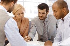 Businessteam working Arkivbild