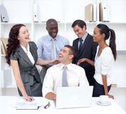 Businessteam working and having fun Royalty Free Stock Photos
