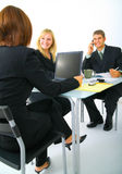 Businessteam Working Together Royalty Free Stock Photos