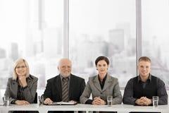 businessteammöte Arkivbilder