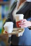 Businesswoamn With Takeaway Coffee Stock Photos