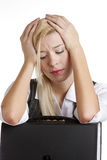 Businesswoman. Portrait of businesswoman with folder Royalty Free Stock Images