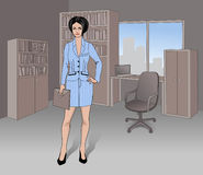 Businesswoman. Elegant businesswoman in the office Royalty Free Stock Images