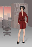 Businesswoman. Elegant businesswoman in the office Stock Photography