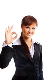Businesswoman. Isolated over white background royalty free stock image