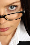 Businesswoman. Business woman wearing glasses. Close-up Stock Images