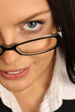 Businesswoman. Business woman wearing glasses. Close-up Royalty Free Stock Images