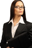 Businesswoman. Young business woman. Isolated over white background Stock Image