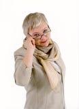 Businesswoman. Portrait of  emotional mature female Stock Photos