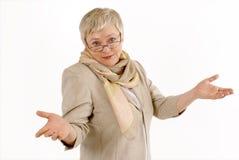 Businesswoman. Portrait of  emotional mature female Royalty Free Stock Image