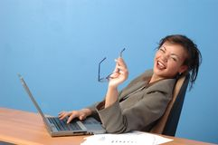 Businesswoman. Laughing Royalty Free Stock Image