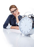 Businesswoman. In office . Business worker royalty free stock images