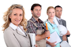 Businesswoman. Four people from different employment areas Stock Image