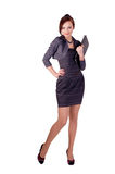 Businesswoman. A young woman with a folder in his hands Stock Photo