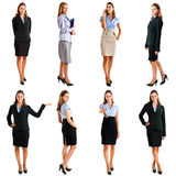 Businesswoman. Collection of full length portraits of a beautiful businesswoman stock photography