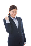 Businesswoman. The young businesswoman who is pleased Stock Photos
