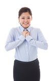 Businesswoman. The young businesswoman who is pleased Royalty Free Stock Image