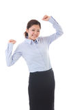 Businesswoman. The young businesswoman who is pleased Stock Image