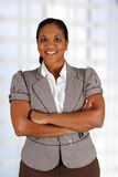 Businesswoman. Working at her office by herself Stock Image