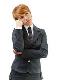 Businesswoman. Isolated On A White Background Stock Images