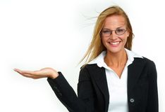 Businesswoman. Happy young businesswoman with blond hair Stock Images