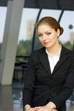 Businesswoman. Office portrait young beautiful businesswoman Stock Image