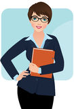 Businesswoman. Business woman with a folder for papers Stock Images