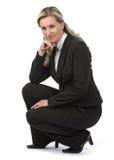 Businesswoman. Isolated on white background Royalty Free Stock Photo