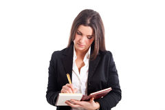 Businesswoman accounting Stock Images
