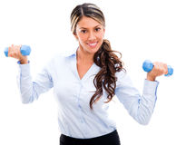 Businesswoman in an active pause Stock Images